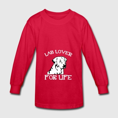 LAB LOVER FOR LIFE Special Dogs T shirt - Kids' Long Sleeve T-Shirt