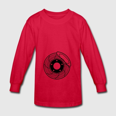 brake disc, brake, disc, car, bike, motorcycle - Kids' Long Sleeve T-Shirt