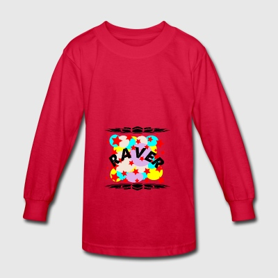 raver curve - Kids' Long Sleeve T-Shirt