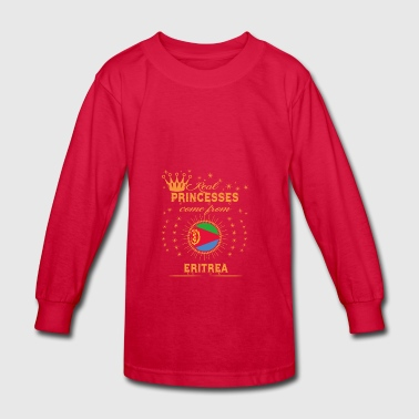 love princesses come from ERITREA - Kids' Long Sleeve T-Shirt