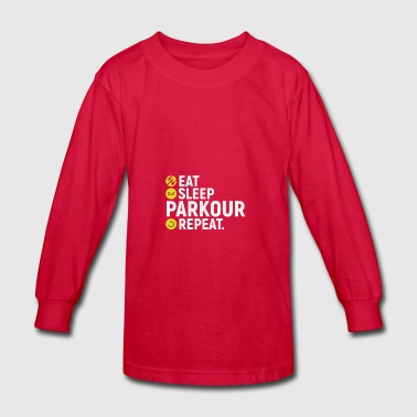Eat, sleep, parkour, repeat - gift - Kids' Long Sleeve T-Shirt