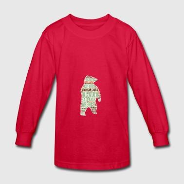 National Park Bear T Shirt - Kids' Long Sleeve T-Shirt