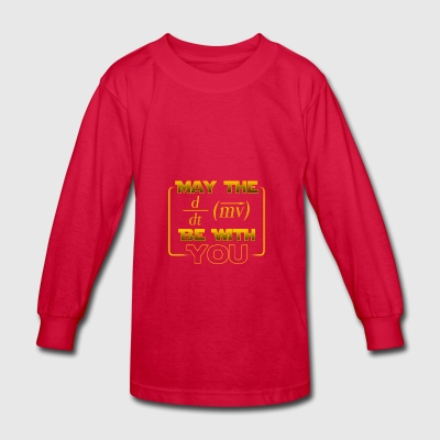 May the force be with you - gift - Kids' Long Sleeve T-Shirt