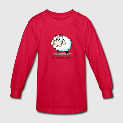 New Zealand Picture - Kids' Long Sleeve T-Shirt