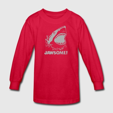 funny vintage soft Jawesome Jaws copy - Kids' Long Sleeve T-Shirt