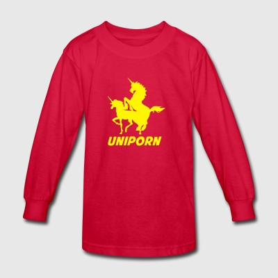 Uniporn Funny t Unicorn comic porn horse myth ride - Kids' Long Sleeve T-Shirt