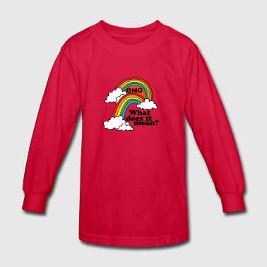 Double Rainbow - Kids' Long Sleeve T-Shirt