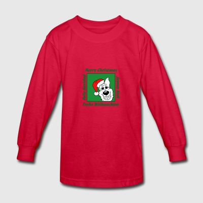 White Shepherd Christmas - Kids' Long Sleeve T-Shirt