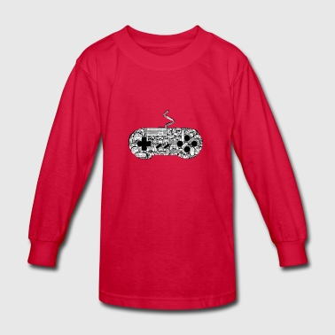 gamer controllers artwork - Kids' Long Sleeve T-Shirt