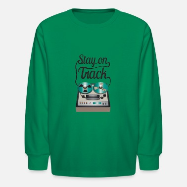 Stay off The Tracks Tire Vintage - Kids' Longsleeve Shirt