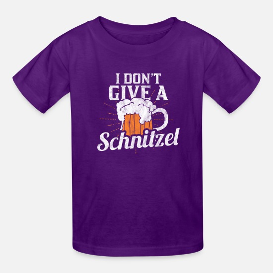 Alcohol T-Shirts - Funny beer Shirts - Schnitzel for beer lovers - Kids' T-Shirt purple