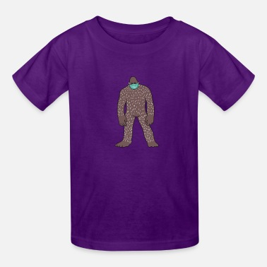 Bigfoot With Face Mask - Kids' T-Shirt