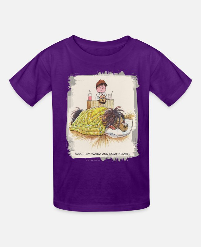 Riding Academy T-Shirts - Thelwell Sleeping Horse Warm And Confortable - Kids' T-Shirt purple