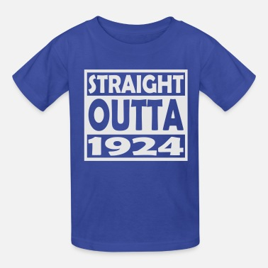 Happy 93 93th Birthday T Shirt Straight Outta 1924 - Kids' T-Shirt