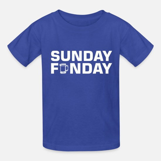 Rest T-Shirts - Sunday Funday Beer Lover Drinking Rest - Kids' T-Shirt royal blue