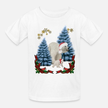 Baby Christmas, polar bear mum with baby - Kids' T-Shirt
