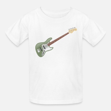 Vintage Avocado Green Electric JBass - Kids' T-Shirt