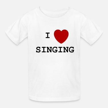 I Love To Sing I love singing - Kids' T-Shirt