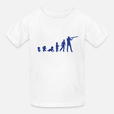 Skeet Shooting evolution skeet shoots man rifle - Kids' T-Shirt