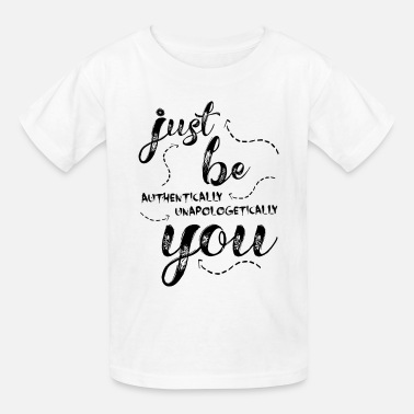 Black Girl Just Be You - black print - Kids' T-Shirt