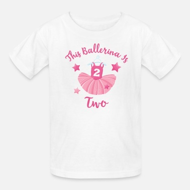 14199a203593 Ballerina 2nd Birthday Toddler Premium T-Shirt