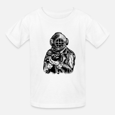Deep Sea Diver Diver Deep Sea Hunter - Kids' T-Shirt