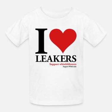 Whistleblowing I Heart Leakers - Support WikiLeaks - Kids' T-Shirt