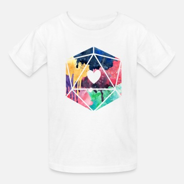 D20 D20 Watercolor - Kids' T-Shirt