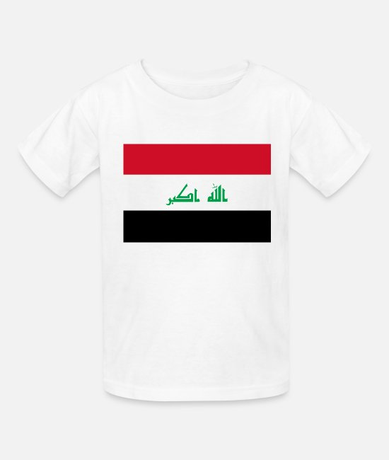 National T-Shirts - Iraq country flag love my land patriot - Kids' T-Shirt white