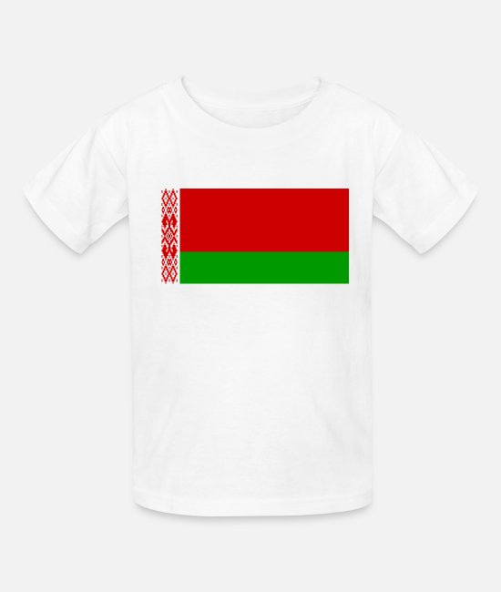 National T-Shirts - Belarus country flag love my land patriot - Kids' T-Shirt white