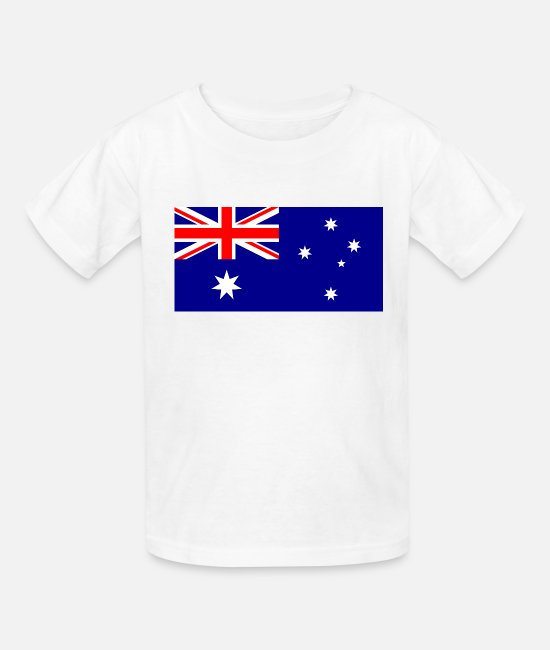 National T-Shirts - Australia country flag love my land patriot - Kids' T-Shirt white