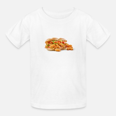 Fried Shrimp Poboy overflowing realistic sandwich - Kids' T-Shirt