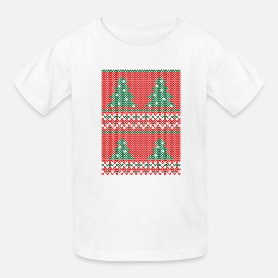 Festival T-Shirts - Christmas Ugly Sweater Suck It - Kids' T-Shirt white