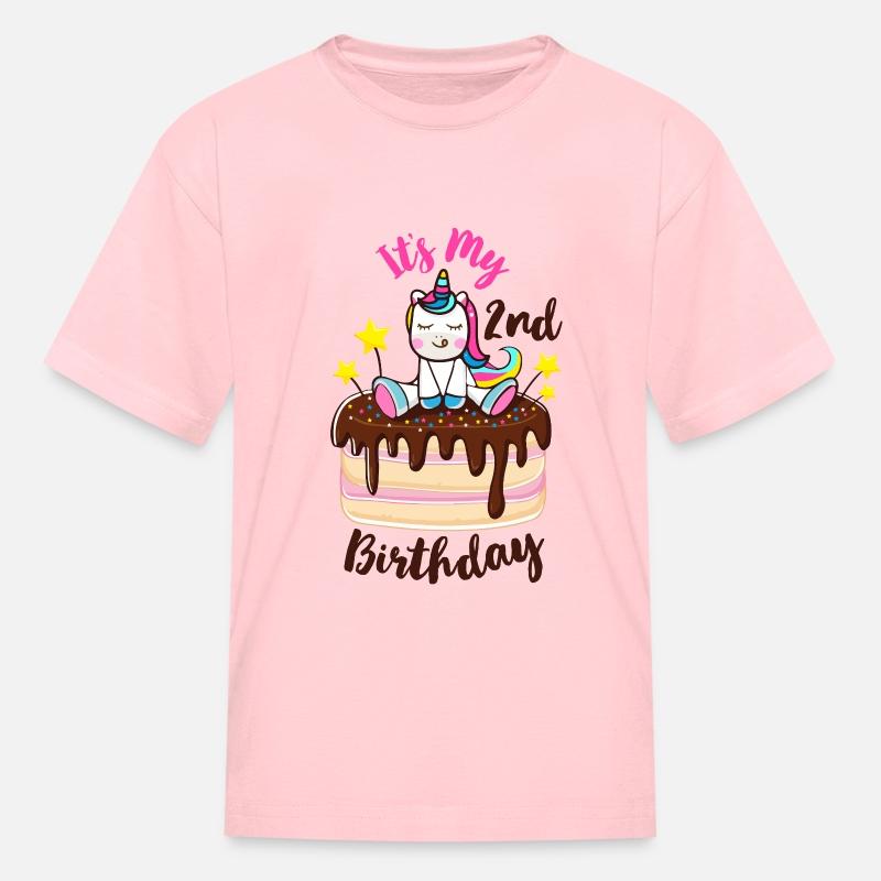 Personalised Unicorn Sirène 2nd deux 2 Anniversaire T-shirt tenue haut fille 2-3 Set
