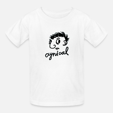 Cynical Cynical Face Gesture Style - Kids' T-Shirt