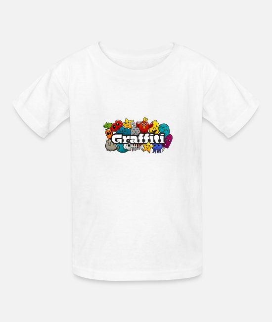 Rap T-Shirts - Graffiti - Kids' T-Shirt white