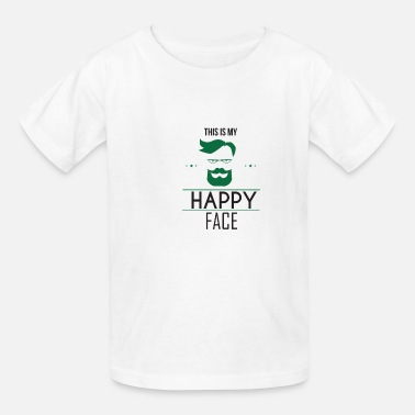 Quote This Is My Happy Face - Grumpy - Kids' T-Shirt
