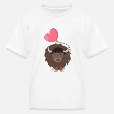 I Love Heart Yaks Kids T-Shirt