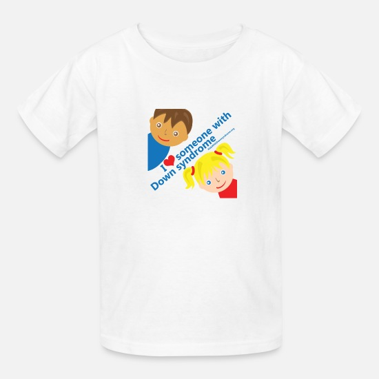 Down T-Shirts - I Love Someone with DS - Kids' T-Shirt white