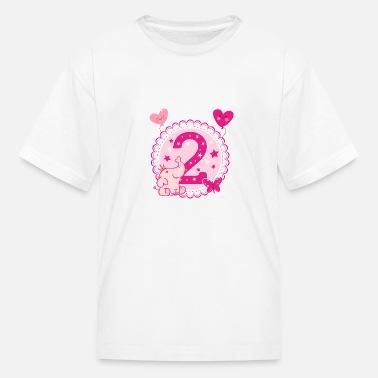 Second Birthday Girl 2nd Happy Gift Niece Kids Premium T