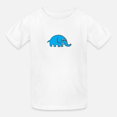 Blue Cartoon Elephant - Kids' T-Shirt