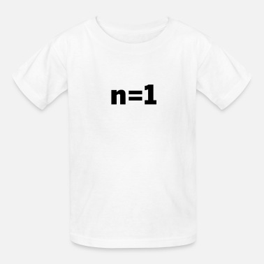 n equals 1, n=1, sample size statistics - Kids' T-Shirt
