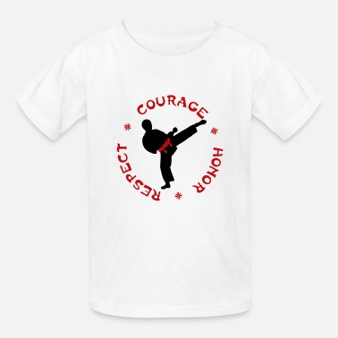 Honor Courage Honor Respect Boys T for Martial Arts kids - Kids' T-Shirt