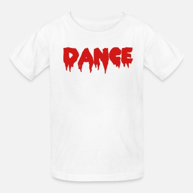 Lettering DANCE in bloody font - Kids' T-Shirt
