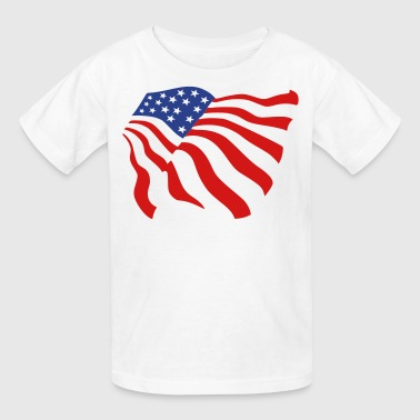 american flag - Kids' T-Shirt