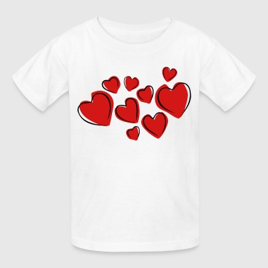 Love Hearts Floating (Drawing) - Kids' T-Shirt