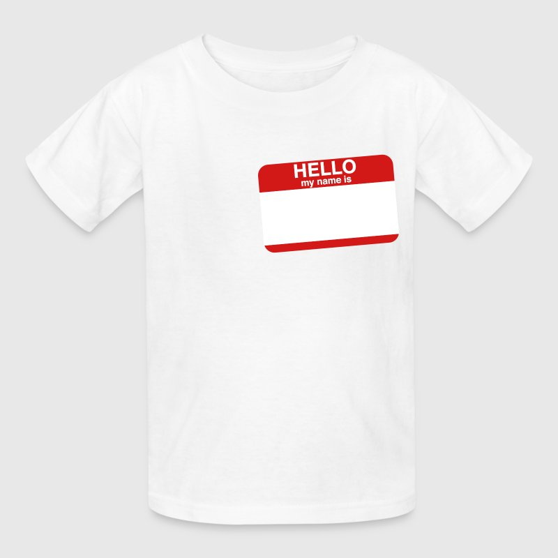 HELLO MY NAME IS _____   - Kids' T-Shirt
