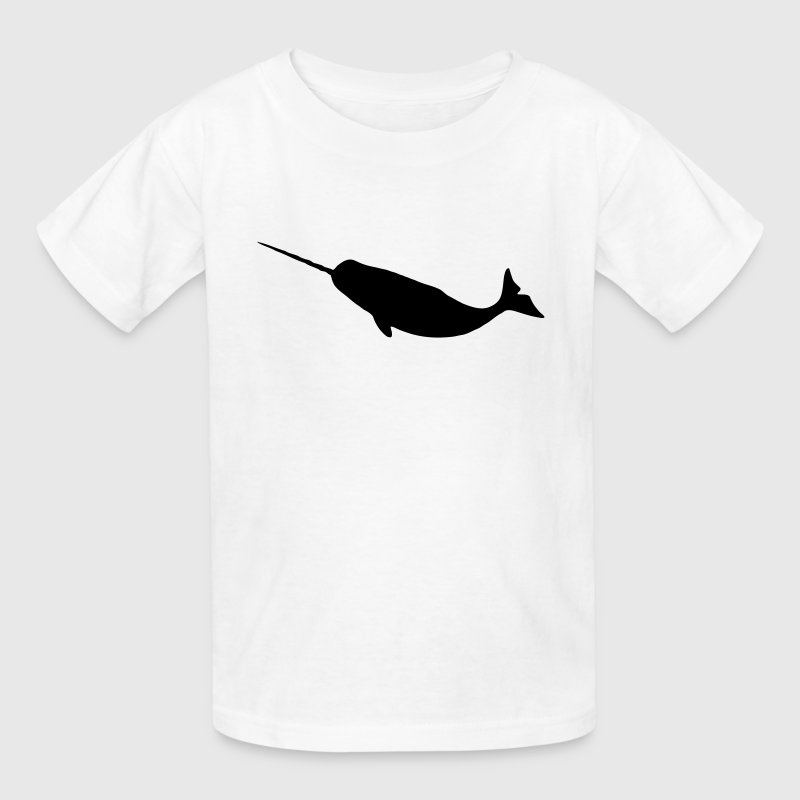 Narwhal Silhouette - Kids' T-Shirt