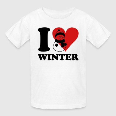 i love winter - Kids' T-Shirt