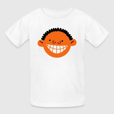 cute kids face with a big cheesy toothy smile - Kids' T-Shirt